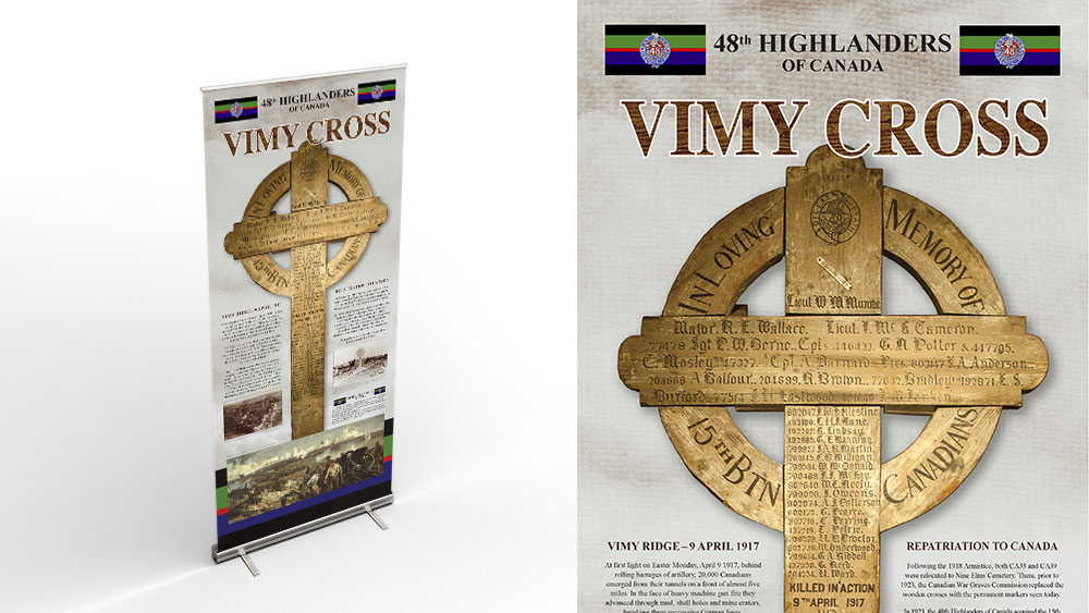 vimy ridge cross banner 1